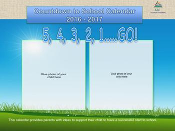 Countdown to School Calendar - Your Child's