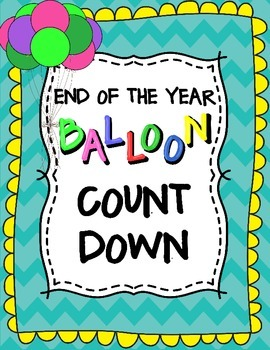 Countdown to Summer Balloon and Word of the Day Activity