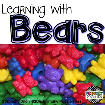 Counter Bear Activity Printables for First Grade {Ready, S
