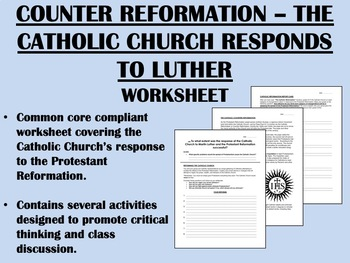 Counter Reformation - Catholic Church Response to Luther -