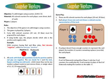 Counter Venture - Add Integers Game