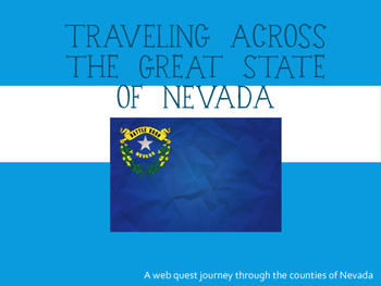 Counties of Nevada Web Quest Activity - 4th Grade Social S