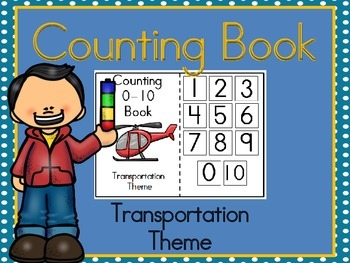 Counting 0-10 Transportation Themed Book