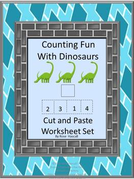 Dinosaurs Kindergarten Math Centers Counting Addition and