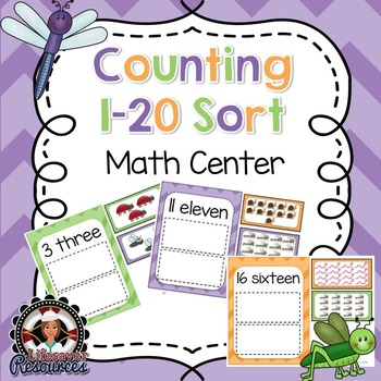 Counting 1-20 Sort - Math Centers - Concentration Game