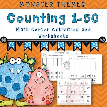 Counting 1-50  (Monster Themed)