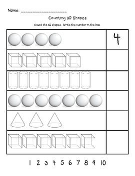 Counting 3D Shapes 1-10