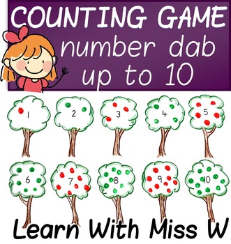 Counting Game: number dab up to 10
