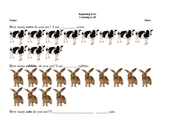 Counting Animals - #11 - 20