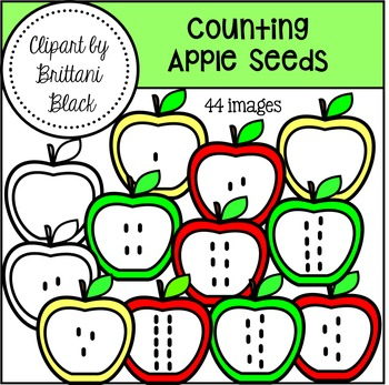 Counting Apple Seeds Clipart