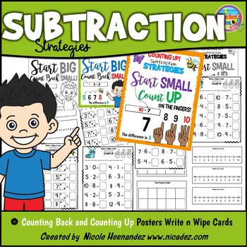 Mental Math SUBTRACTION Strategies - Counting Back and Cou