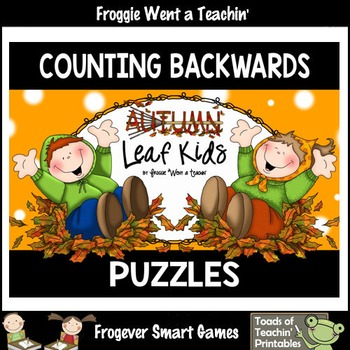 "Counting Backwards by Ones--Number Sequencing Puzzles ""Aut"