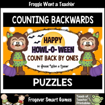 """Counting Backwards by Ones--Number Sequencing Puzzles """"Hap"""