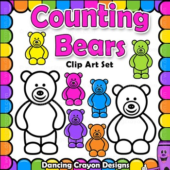 Counting Bears / Candy Bears Clip Art
