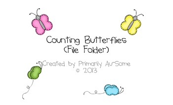 Counting Butterflies (a counting file folder)