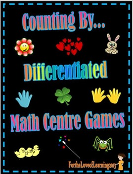 Counting By - Differentiated Math Centre Number Pattern Games