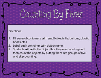 Counting By Fives with Objects