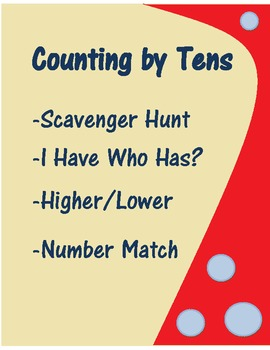 4 Complete Counting By Tens Math Centers