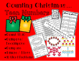 Counting Christmas-Teen Numbers...Count, Ten Frames, Compo