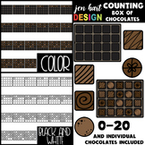 Counting Clip Art -Counting Box of Chocolates {jen hart Clip Art}