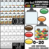 Counting Clip Art -Counting Candy Coated Chocolates {jen h