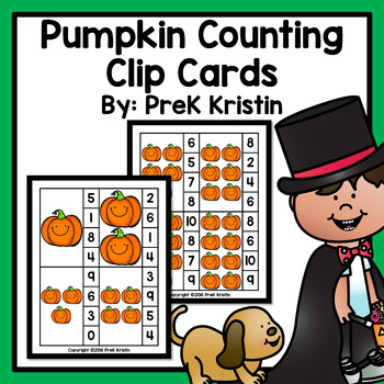 Counting Clip Cards: Pumpkin Theme