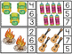 Counting Clip It Cards Numbers 1-20 - Camping Themed