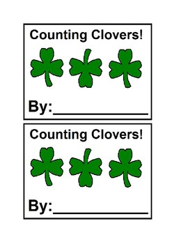 Counting Clovers in color Emergent Reader Books for Presch