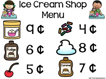 Counting Coins Ice Cream Shop