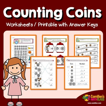 Coin Counting Worksheets with Answer Keys