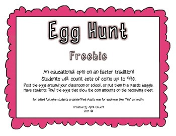 Counting Coins Egg Hunt Freebie!