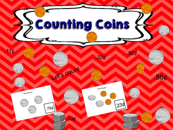 Counting Coins  ( How Much?) Task Cards