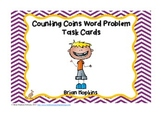 Counting Coins Problem Sovling Task Cards