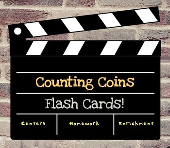 Counting Coins (up to a Dollar) Flash Cards Pack, 30-Card Set