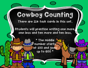 Counting Cowboys: One More, One Less, 100 More, 100 Less
