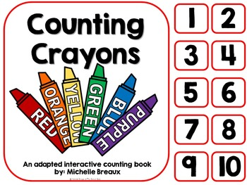 Counting Crayons- A Back to School Counting Book {SPED, Au