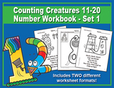 Counting Creatures 11-20 Number Workbook - Set 1