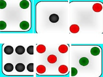 Counting Dice File Folder Game