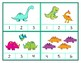 Counting Dinosaurs - Clip Cards for Independent Practice