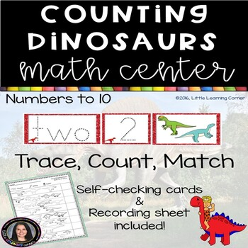 Counting Dinosaurs - Math Center - Numbers to 10