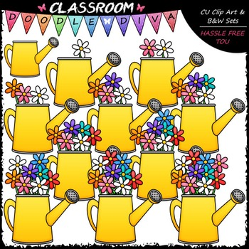 Counting Flowers Clip Art - Sequence, Counting & Math Clip