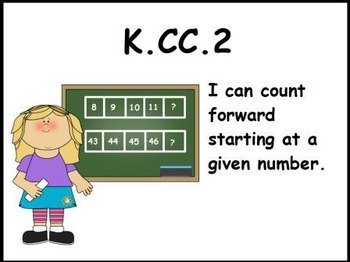 Counting Forward: Math Center Activity (K.CC.2)