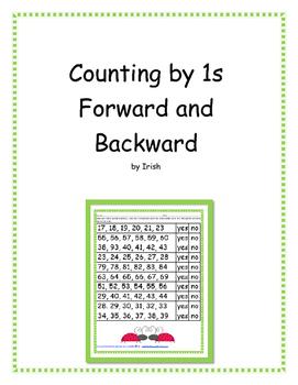 Counting Forward and Backward by 1's - 5 Activities
