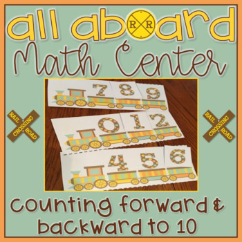 Counting to 10 Forwards & Backwards Math Center Task Card