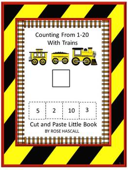 Trains Counting to 20 Cut and Paste Little Book