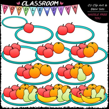 Counting Fruit Clip Art - Sequence, Counting & Math Clip A