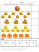 Math Cut and Paste Fall Counting Pumpkins PK, K, Special E