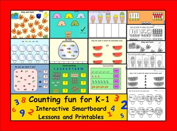 Counting Fun for K-1  Interactive Smartboard Lessons and P
