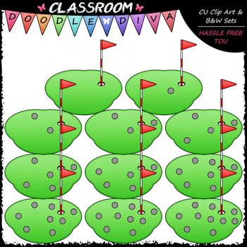 Counting Golf Balls Clip Art - Counting & Math Clip Art & B&W Set