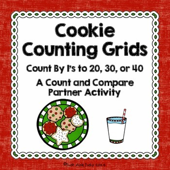 Counting Grids- Count by 1's to 20, 30, or 40- Cookies
